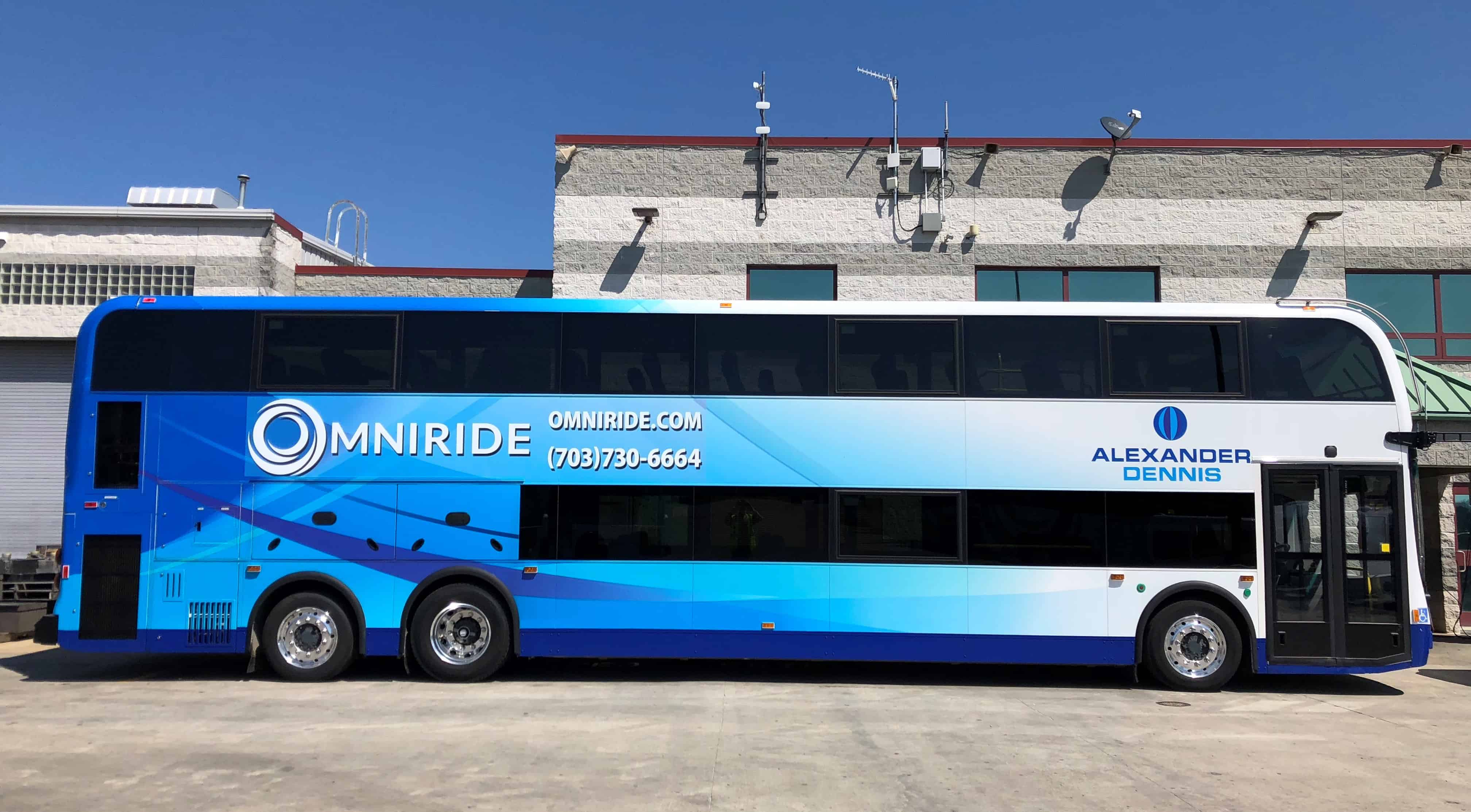 New PRTC OmniRide Double Deck Bus