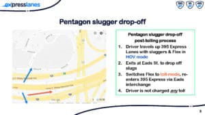 Drivers Dropping off Slugs at the Pentagon